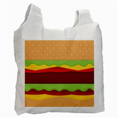 Vector Burger Time Background Recycle Bag (two Side)  by Simbadda
