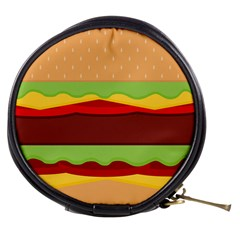 Vector Burger Time Background Mini Makeup Bags by Simbadda
