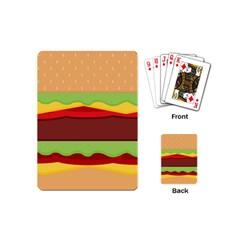 Vector Burger Time Background Playing Cards (mini)  by Simbadda