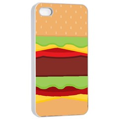 Vector Burger Time Background Apple Iphone 4/4s Seamless Case (white) by Simbadda