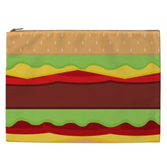 Vector Burger Time Background Cosmetic Bag (xxl)