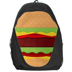 Vector Burger Time Background Backpack Bag by Simbadda
