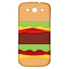 Vector Burger Time Background Samsung Galaxy S3 S Iii Classic Hardshell Back Case by Simbadda