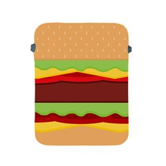 Vector Burger Time Background Apple Ipad 2/3/4 Protective Soft Cases by Simbadda