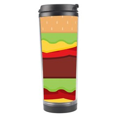 Vector Burger Time Background Travel Tumbler by Simbadda