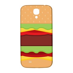 Vector Burger Time Background Samsung Galaxy S4 I9500/i9505  Hardshell Back Case by Simbadda