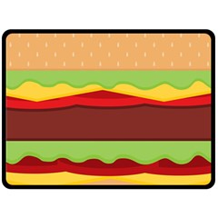 Vector Burger Time Background Double Sided Fleece Blanket (large)  by Simbadda