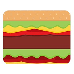 Vector Burger Time Background Double Sided Flano Blanket (large)  by Simbadda
