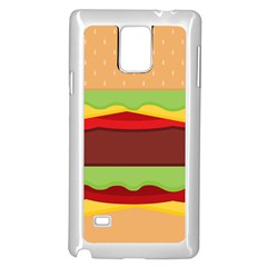 Vector Burger Time Background Samsung Galaxy Note 4 Case (white) by Simbadda