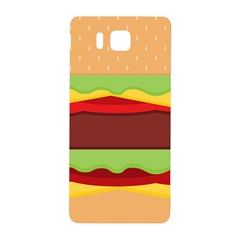 Vector Burger Time Background Samsung Galaxy Alpha Hardshell Back Case by Simbadda