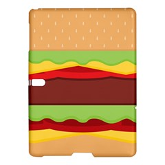 Vector Burger Time Background Samsung Galaxy Tab S (10 5 ) Hardshell Case  by Simbadda