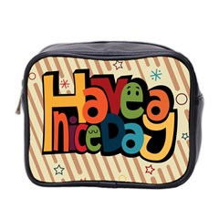 Have A Nice Happiness Happy Day Mini Toiletries Bag 2 Side by Simbadda