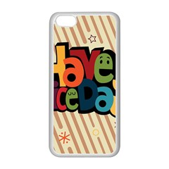 Have A Nice Happiness Happy Day Apple Iphone 5c Seamless Case (white) by Simbadda