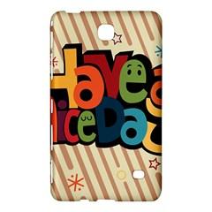 Have A Nice Happiness Happy Day Samsung Galaxy Tab 4 (8 ) Hardshell Case  by Simbadda