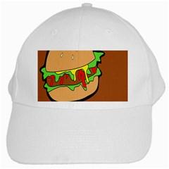 Burger Double White Cap by Simbadda