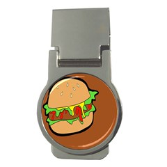 Burger Double Money Clips (round)  by Simbadda