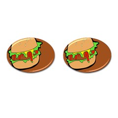Burger Double Cufflinks (oval) by Simbadda