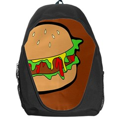 Burger Double Backpack Bag by Simbadda