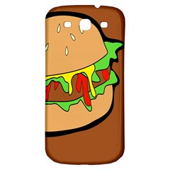 Burger Double Samsung Galaxy S3 S Iii Classic Hardshell Back Case by Simbadda