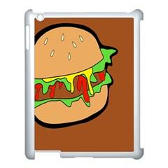 Burger Double Apple Ipad 3/4 Case (white) by Simbadda