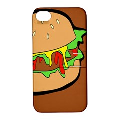 Burger Double Apple Iphone 4/4s Hardshell Case With Stand by Simbadda