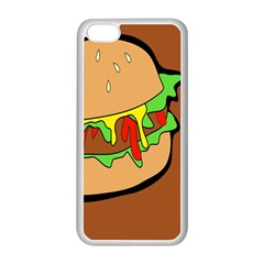 Burger Double Apple Iphone 5c Seamless Case (white) by Simbadda