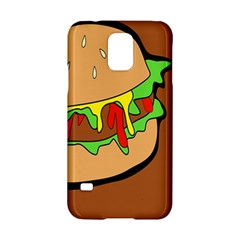 Burger Double Samsung Galaxy S5 Hardshell Case  by Simbadda