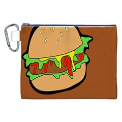 Burger Double Canvas Cosmetic Bag (xxl) by Simbadda