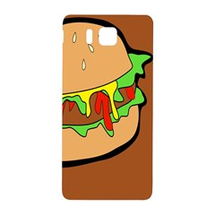 Burger Double Samsung Galaxy Alpha Hardshell Back Case by Simbadda