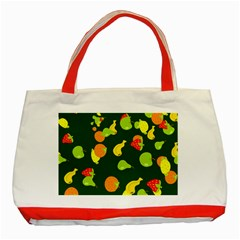 Seamless Tile Background Abstract Classic Tote Bag (red) by Simbadda