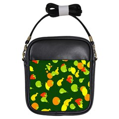 Seamless Tile Background Abstract Girls Sling Bags by Simbadda