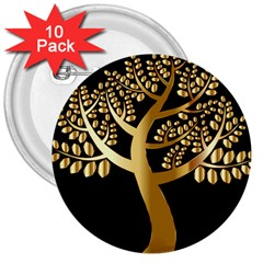 Abstract Art Floral Forest 3  Buttons (10 Pack)  by Simbadda