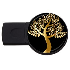 Abstract Art Floral Forest Usb Flash Drive Round (4 Gb) by Simbadda