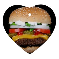 Abstract Barbeque Bbq Beauty Beef Ornament (heart) by Simbadda