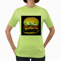 Abstract Barbeque Bbq Beauty Beef Women s Green T Shirt by Simbadda