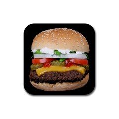 Abstract Barbeque Bbq Beauty Beef Rubber Square Coaster (4 Pack)  by Simbadda