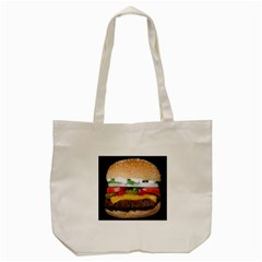 Abstract Barbeque Bbq Beauty Beef Tote Bag (cream) by Simbadda