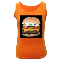 Abstract Barbeque Bbq Beauty Beef Women s Dark Tank Top by Simbadda
