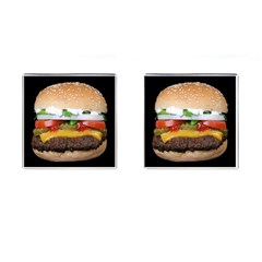 Abstract Barbeque Bbq Beauty Beef Cufflinks (square) by Simbadda