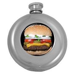 Abstract Barbeque Bbq Beauty Beef Round Hip Flask (5 Oz)