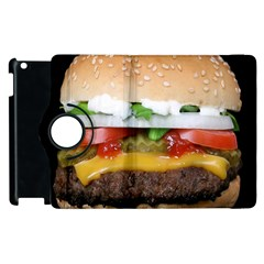 Abstract Barbeque Bbq Beauty Beef Apple Ipad 3/4 Flip 360 Case by Simbadda