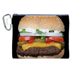 Abstract Barbeque Bbq Beauty Beef Canvas Cosmetic Bag (xxl) by Simbadda