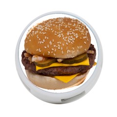 Cheeseburger On Sesame Seed Bun 4-Port USB Hub (Two Sides)  by Simbadda