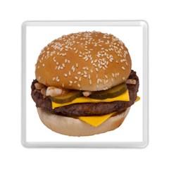 Cheeseburger On Sesame Seed Bun Memory Card Reader (square)  by Simbadda