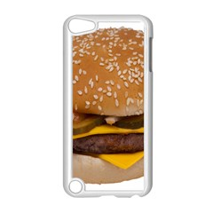Cheeseburger On Sesame Seed Bun Apple Ipod Touch 5 Case (white) by Simbadda
