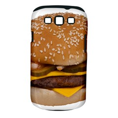 Cheeseburger On Sesame Seed Bun Samsung Galaxy S Iii Classic Hardshell Case (pc+silicone) by Simbadda