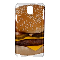Cheeseburger On Sesame Seed Bun Samsung Galaxy Note 3 N9005 Hardshell Case by Simbadda