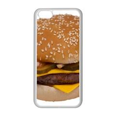Cheeseburger On Sesame Seed Bun Apple Iphone 5c Seamless Case (white) by Simbadda