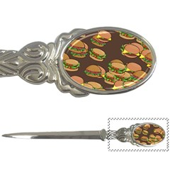 A Fun Cartoon Cheese Burger Tiling Pattern Letter Openers by Simbadda