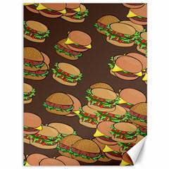 A Fun Cartoon Cheese Burger Tiling Pattern Canvas 36  X 48   by Simbadda